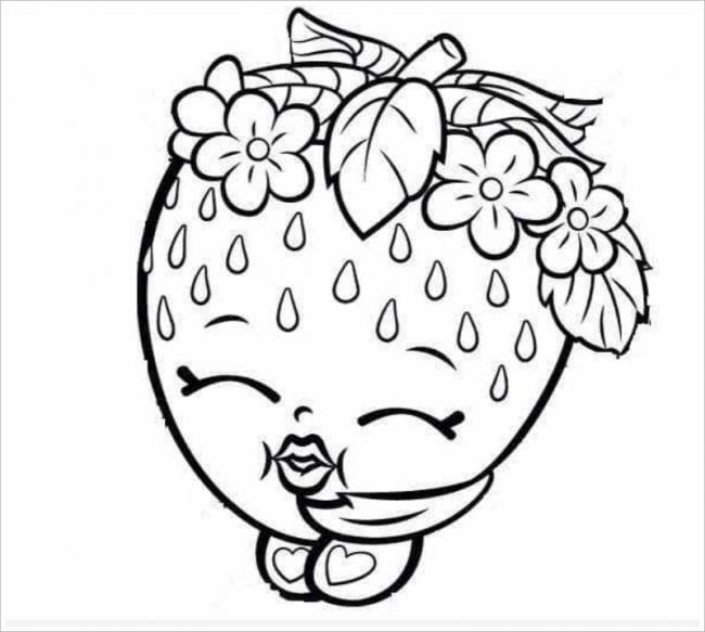 Coleção de morangos para colorir imagens para crianças praticarem coloração