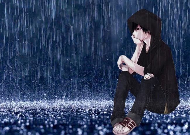 Sammlung von Anime-Hintergrundbildern über traurige, einsame Liebe