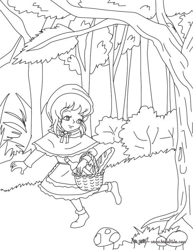 Zusammenfassung der Bilder von Rotkäppchen in Märchen
