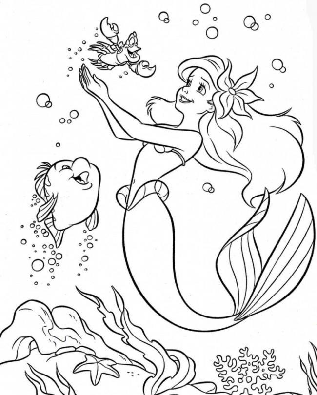 Sammlung von schönen Meerjungfrau Malvorlagen