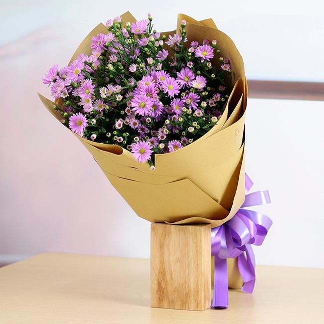 ヘザーの美しい花束