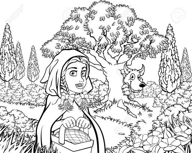 Zusammenfassung der Bilder von Rotkäppchen in Märchen 1