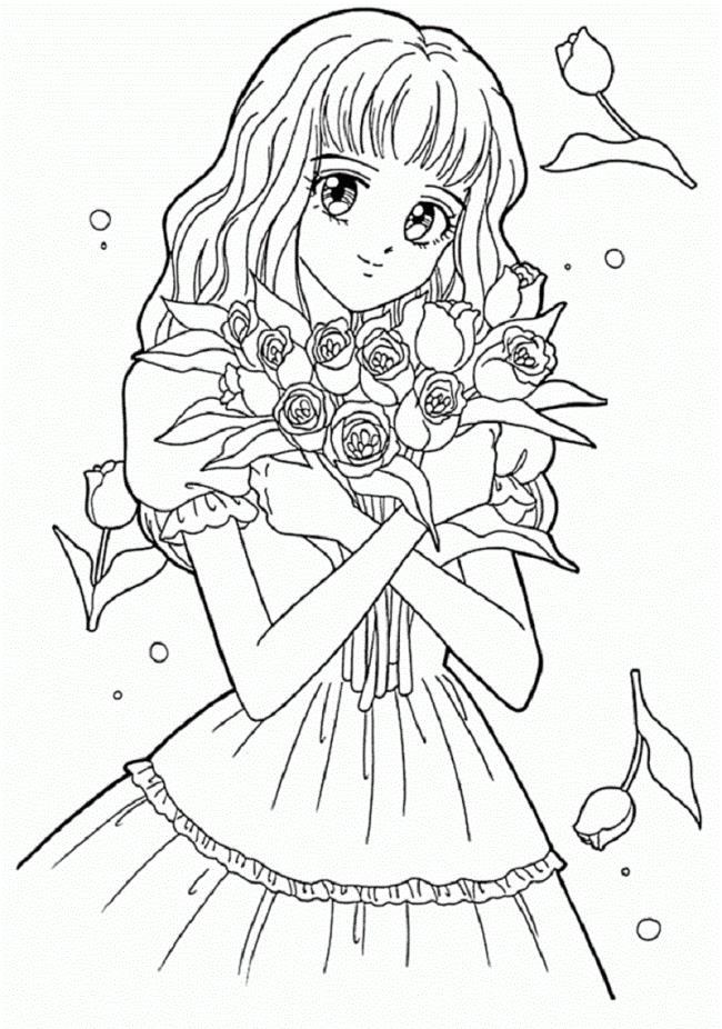 Coleção das melhores imagens para colorir anime