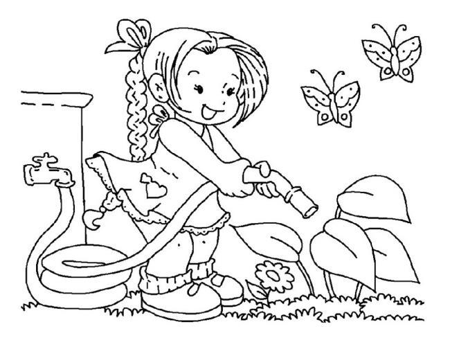 子供のためのカラフルな春の風景のカラフルな写真のコレクション
