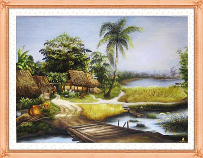 सुंदर परिदृश्य कढ़ाई क्रॉस का संग्रह