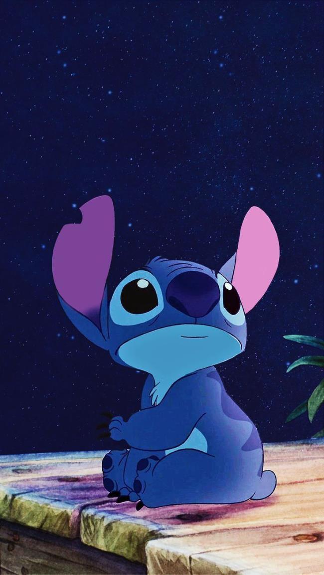 Sintesis gambar watak Stitch yang indah