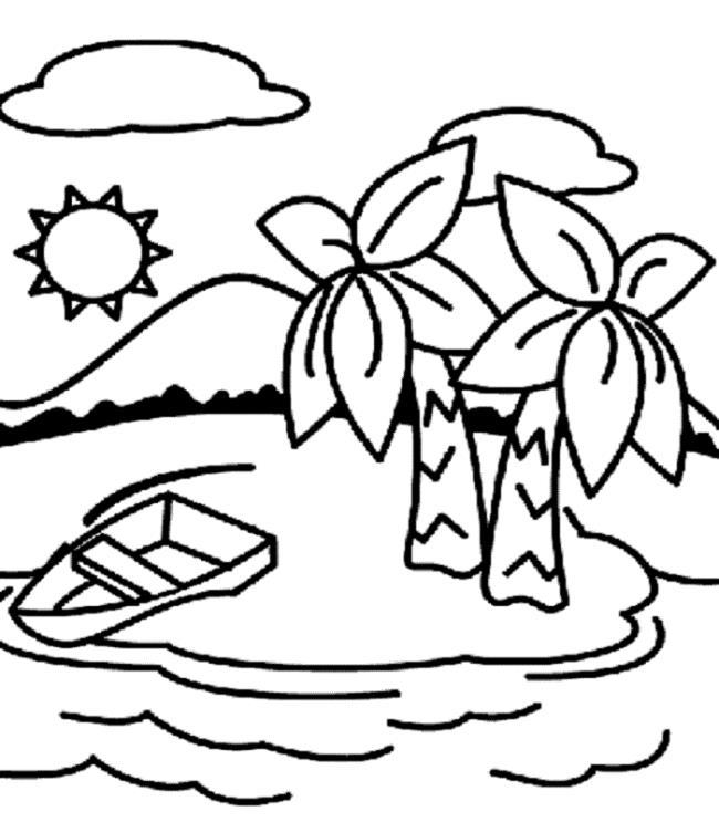 مجموعه زیباترین تصاویر رنگ آمیزی نارگیل برای کودکان