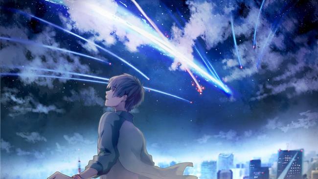 最も美しい風景アニメ銀河の合成