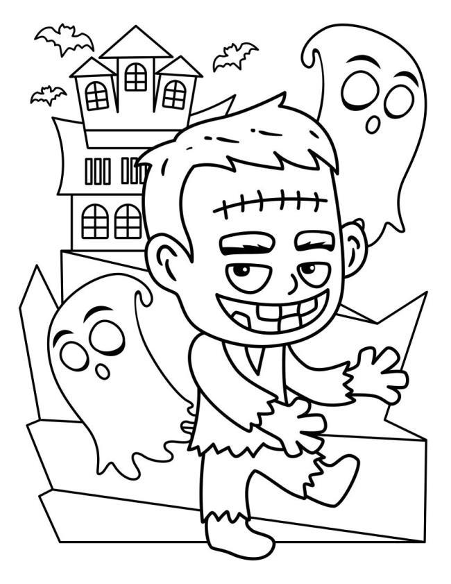 Koleksi halaman mewarna Halloween untuk kanak-kanak