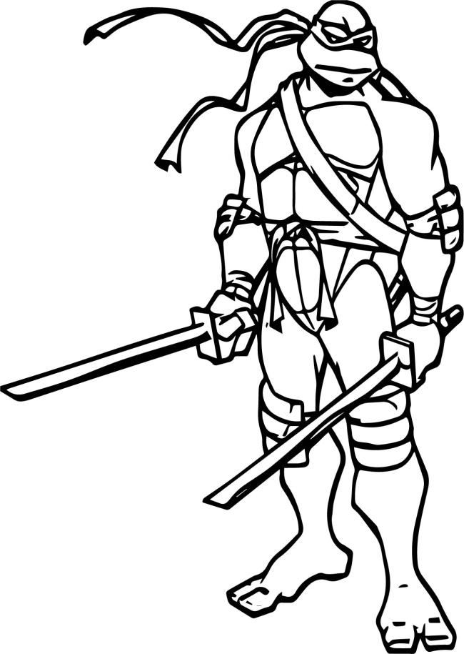 Collection of super cute Ninja turtle coloring pictures for kids