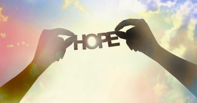 Synthesis images carrying messages of hope, belief in life