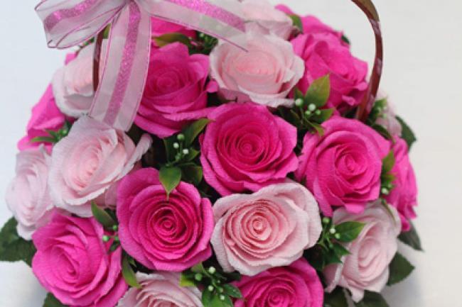 सुंदर सजावटी कागज फूल छवि