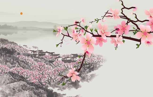 Роспись цветами бегонии в фэн-шуй