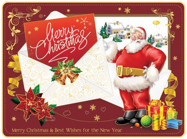 सुंदर क्रिसमस कार्ड टेम्पलेट्स का संग्रह