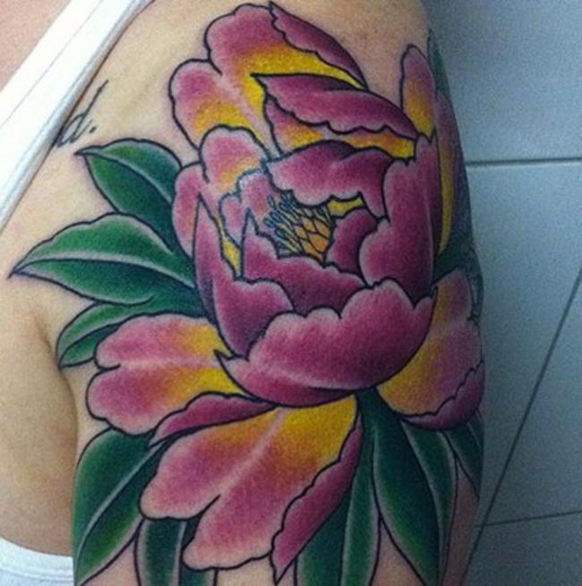 Koleksi corak tatu peony yang paling indah