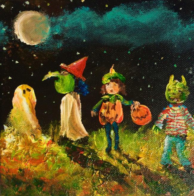 Резюме самых красивых картин темы Хэллоуина