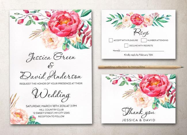 Résumé des plus beaux modèles de cartes de mariage