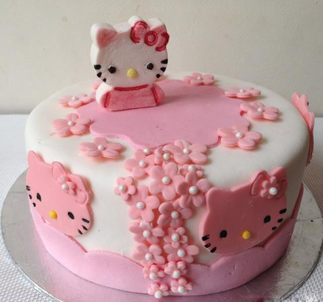 Set of the cutest beautiful birthday cake