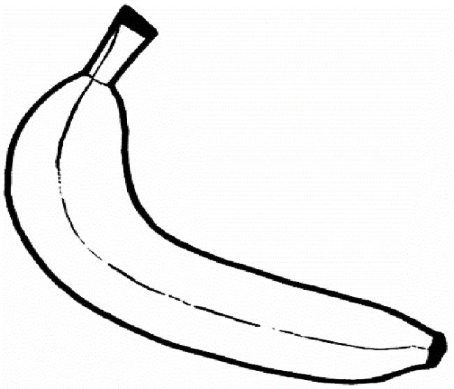 Collection of the most beautiful banana coloring pictures