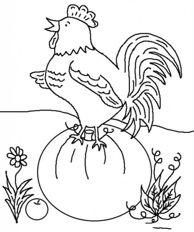 Zusammenfassung der schönen Malvorlagen von Hühnern für Babys