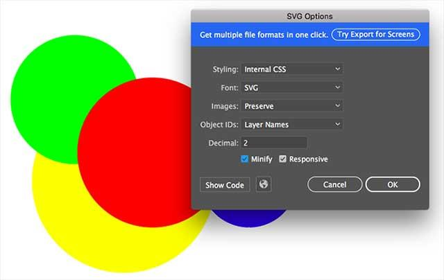 Use SVG format for easier editing