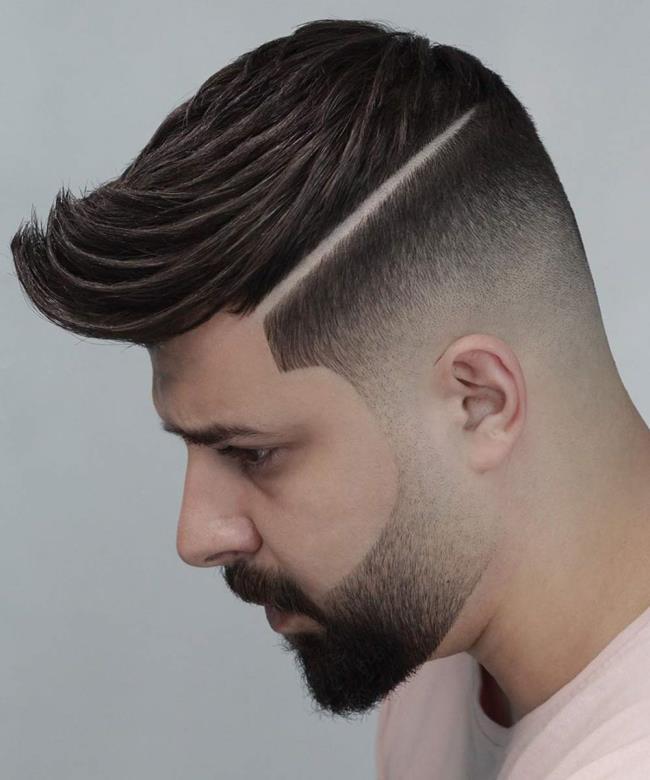Men's short haircuts shaded