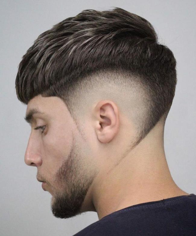 Short hair man side shaves