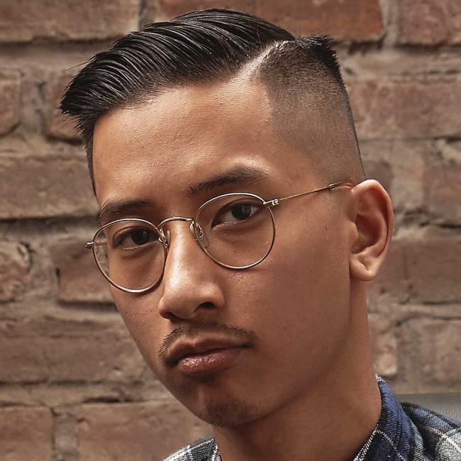 Short hair line man