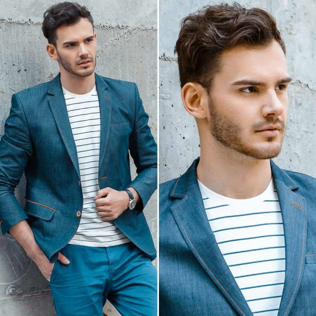 Short wavy men's haircut