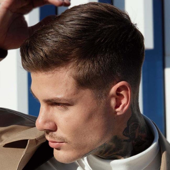 Men's short straight hair cuts