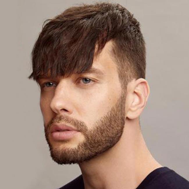 Man short hair cut forward