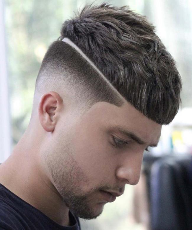 Short hair man forward