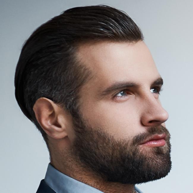 Short man hair back
