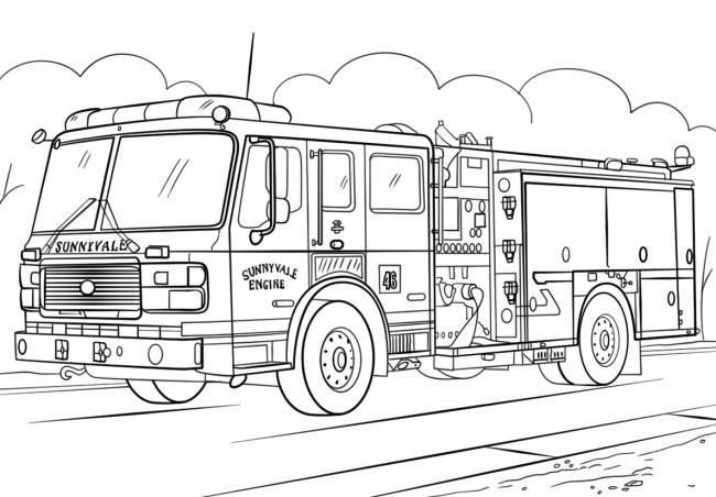 Zusammenfassung der Bilder eines Feuerwehrautos
