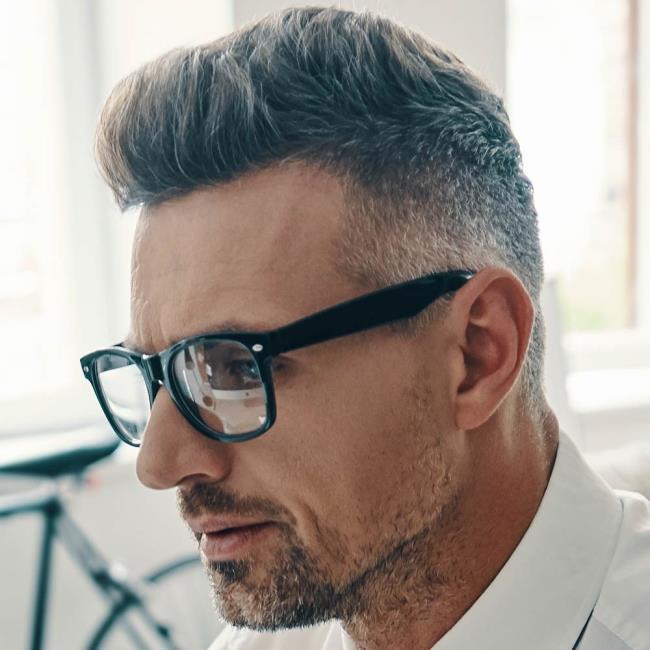 Short white haircuts for men