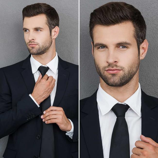 Short hair mature man