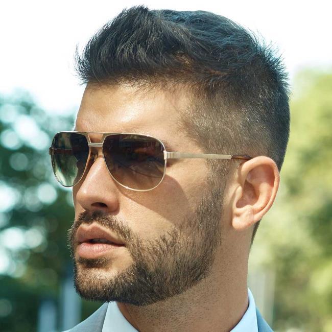 Short hair man beard 2020