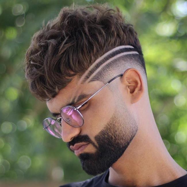 Man beard short haircut