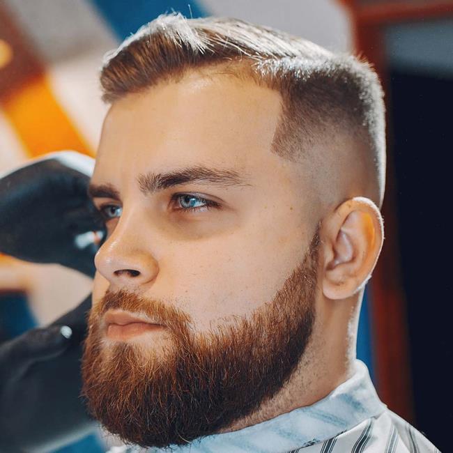 Short hair beard man