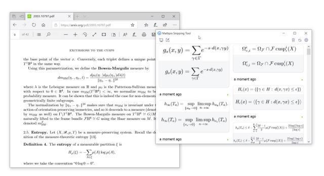 Zeigen Sie die mathematische Gleichung, die Sie in Ihr Dokument einfügen möchten, auf dem Bildschirm an