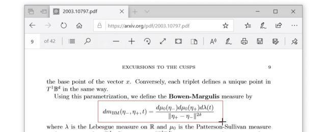 Klicken und ziehen Sie das Zuschneidefeld um die Gleichung, die Sie erhalten möchten. Die Gleichung wird sofort in Mathpix konvertiert.