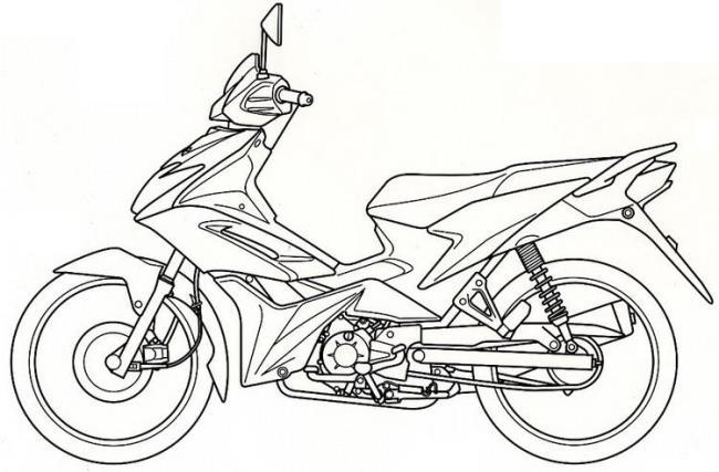مجموعة من صور تلوين الدراجات النارية الجميلة