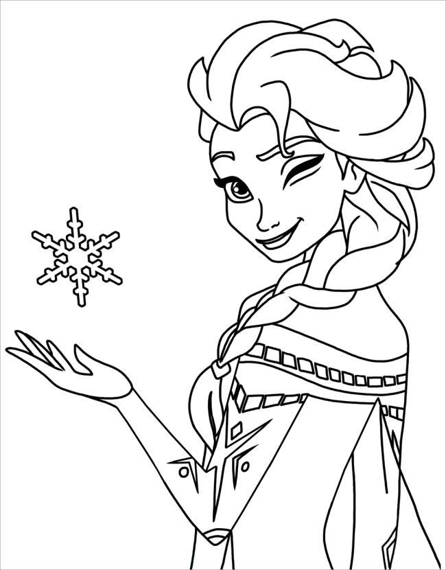 Colecție de frumoase prințese Elsa de colorat