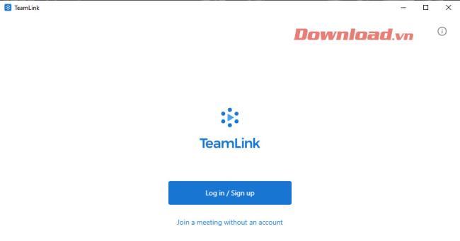 TeamLink-Schnittstelle nach der Installation