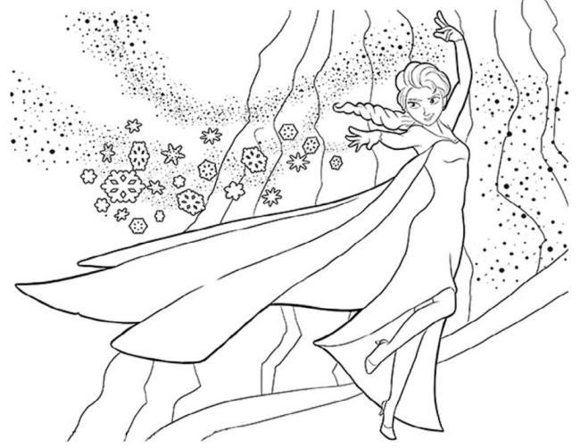 सुंदर राजकुमारी एल्सा रंग पृष्ठों का संग्रह