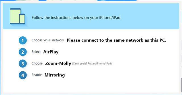 Anweisungen zum Anschließen von iOS-Geräten