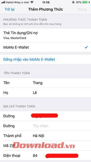 Como adicionar o MoMo ao seu headset Apple ID 4