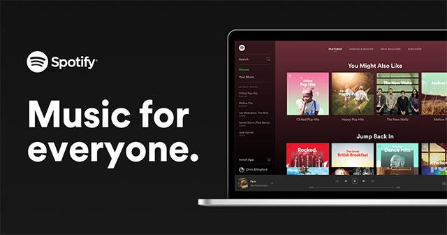 Listen to music online on Spotify