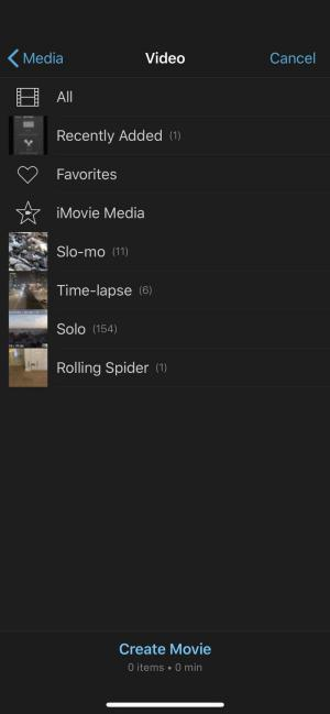 Click Video then, on the Video page, select the video folder you want