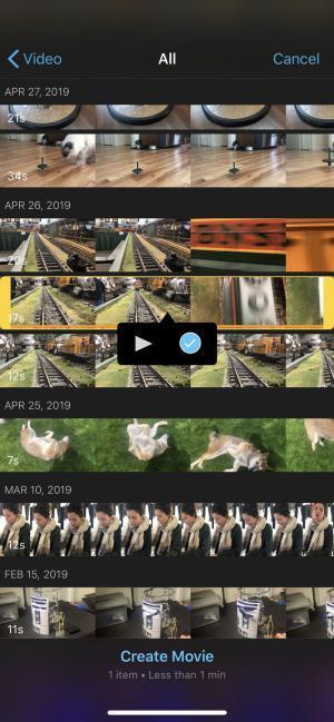 Na janela pop-up, marque a caixa de seleção para adicionar vídeos ao projeto.